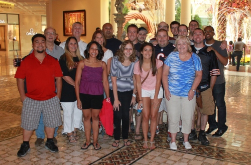 The whole gang in Las Vegas for Ray's 30th birthday!