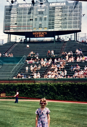 Me on the field for a Women's Clinic in 1994.