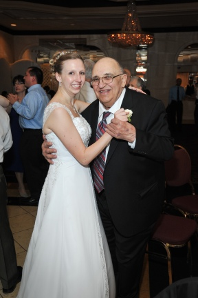 Gramps and me dancing at our wedding.